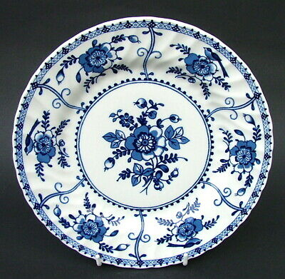 Johnson Brothers Indies Blue Pattern Salad Plates 21.5cmw Later B/S Look in VGC