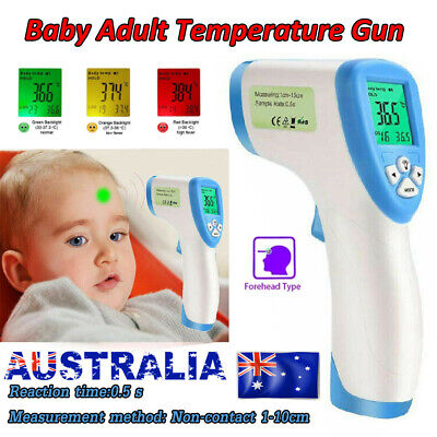 New Digital Thermometer Infrared Forehead Nontouch Temperature Gun Baby Adult AU