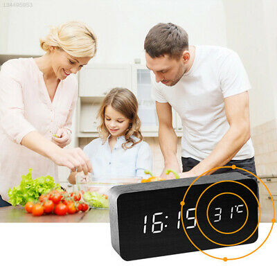 USB Charging Digital Alarm Clock Alarm Clock Sounds Control with Time Memory