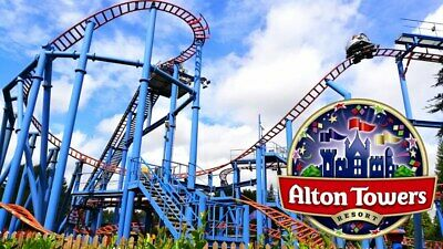 2 x tickets valid Sunday 30th August  2020 -   ALTON TOWERS Full day entry