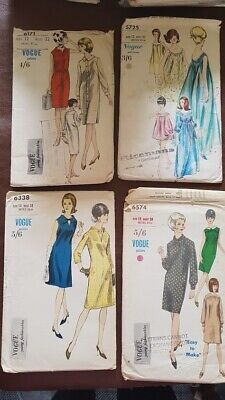 1950s Vintage Vogue sewing dress patterns collectable hobby