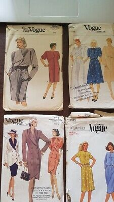 1980s Vintage Vogue sewing dress patterns collectable hobby