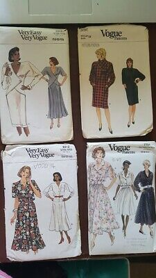 1980s 1990s Vintage Vogue sewing dress patterns collectable hobby