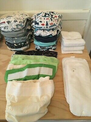 EUC Cloth Diaper Lot-Thirsties, BumGenius Flip