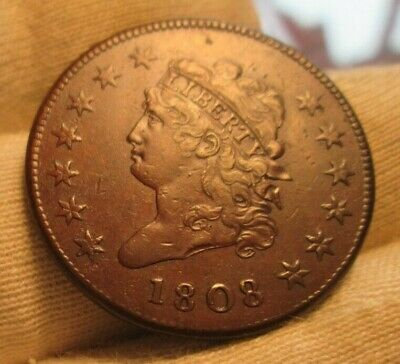 1808 Classic Head Large Cent XF Details!! Scarce Date!!