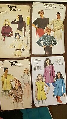 1980s 1990s Vintage Vogue sewing dress patterns collectable hobby blouse top