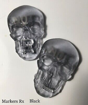 Black X-ray Markers bundle. Custom Skull 3D X-ray Markers and Reusable tape