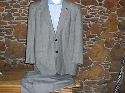 Oxxford Clothes Prince Of Wales Glen Plaid Suit 44R