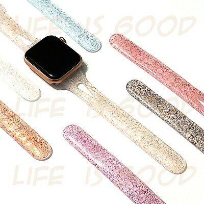 Shiny Wristband Glitter Slim Design Watch Bands for Apple Watch  5, 4, 3, 2, 1