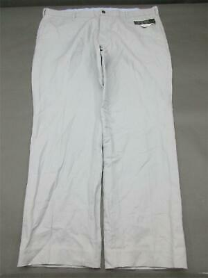 Nwt Brooks Brothers Size 44X32 Mens Gray 54% Linen 46% Cotton Chino Pants 837