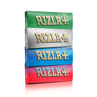 RIZLA Regular RED GREEN SILVER BLUE WHITE or PINK Cigarette Rolling Papers Sale