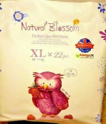 Natural Blossom Super Thin Band Diaper Baby Disposable Nappies Size XL