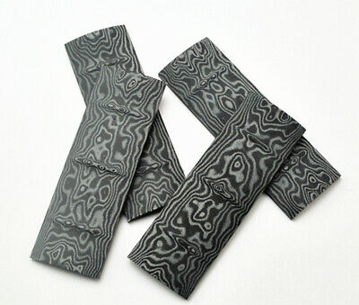 Durable 1 Pair Damascus Pattern Micarta Patches Handle Scales Slabs Grip Blanks