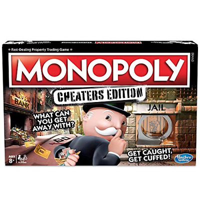 Hasbro Gaming Monopoly Game: Cheaters Edition Board Game Ages 8 and Up