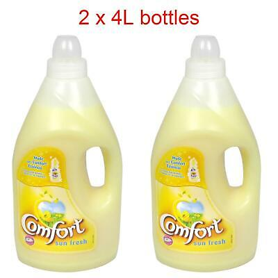 Comfort Sun Fresh Conditioner Laundry Washing Fabric Softener - 2 x 4L Bottles