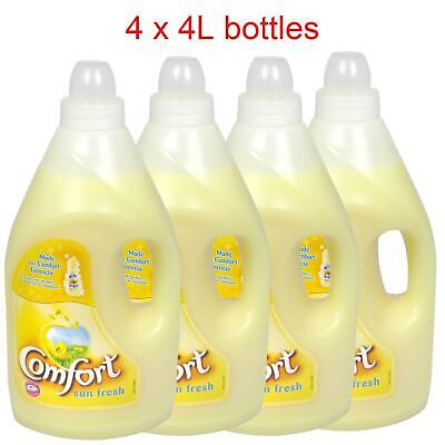 Comfort Sun Fresh Conditioner Laundry Washing Fabric Softener - 4 x 4L Bottles