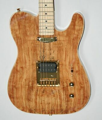 E-Gitarre, Telematik, Spalted Maple, Humbucker, Matching Head, Gold Hardw, G158