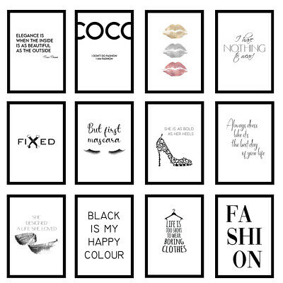 Fashion Designer Quote Bedroom Love Art Prints Wall Art A3/A4/A5 Posters