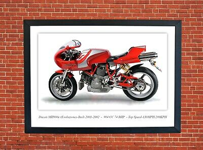 Ducati ST4S Sports Tourer Motorcycle A3 Size Print Poster on Photographic Paper