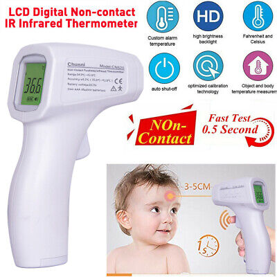 IR Infrared Forehead Thermometer Non Contact Digital Adult Kid Temperature Gun