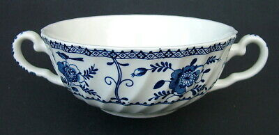 Johnson Brothers Blue Indies 2-Handle Soup or Dessert Bowls 16cmw - Look in VGC