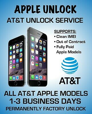 At&T Usa Premium Speed Factory Unlock Service For Iphone X Xs 8 7 Se 6 5 4 All