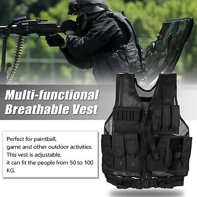 Military Tactical Vest Plate Carrier Police Molle Airsoft CS Assault Combat Gear