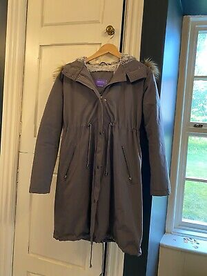 Seraphine Winter Maternity Parker 3-in-1 Coat Size 10, Slate Grey