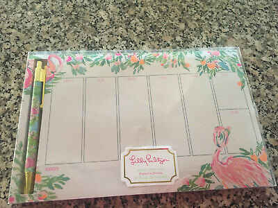 Lilly Pulitzer NEW in BOX Weekly Desk Pad w/Pen, Floridita, retail is 18!