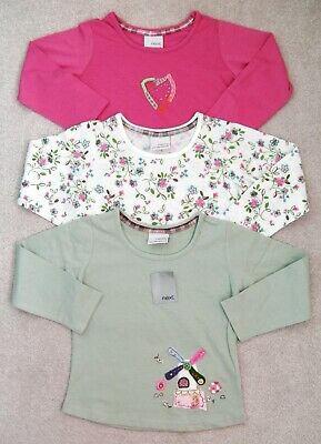 Bnwt Baby Girls Next Tops 18-24 Mths 1-2 Yr New Pink Heart Flower Spring Holiday