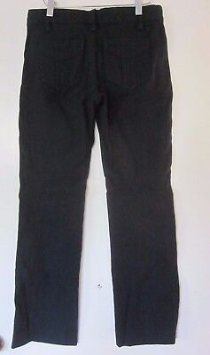Marc Jacobs Size 2 Corduroy Pants Womens Blue Trousers Straight Wide Leg Navy
