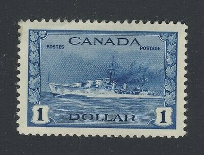 Canada $1.00 WWII MNH VF Stamp #262-$1.00 Destroyer MNH VF Guide Value = $120.00