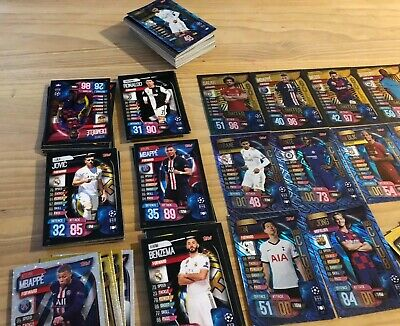 Match Attax 2019/20 19/20 Champions League 30 Bundle Cards, 2 X 100 Club