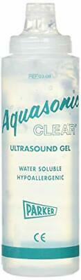 3 PACK - Parker Labs Aquasonic Clear Ultrasound Transmission Gel 8.5oz Bottle