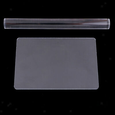 2x Clear Acrylic Roller Rolling Pin And Sculpey Sheet Board Clay Art Craft Tool