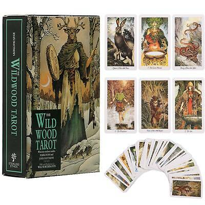 78Pcs/Set Oracle Cards Wild Wood Tarot Card Mysterious Deck Beginner Board Game