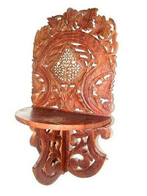 Indian Decorative Wooden Hand Carved Wall Shelf / Wall Hanging