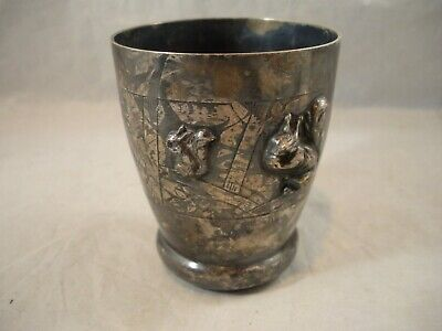Fine Antique French Silver Cup / Beaker Marked