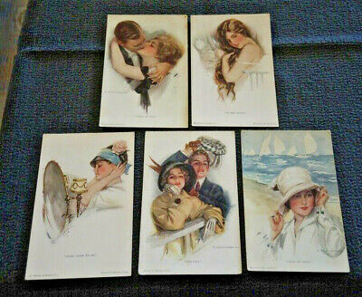 5 Harrison Fisher R & N Nos. 762, 764, 773, 765, 767  Unposted
