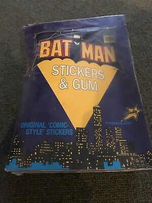 Batman Stickers And Gum - 1989  - Unopened Box