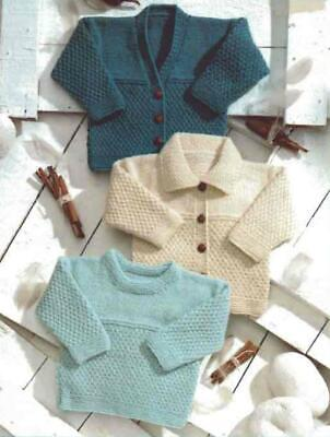 Knitting Pattern ~ Includes Premature ~ 8 Ply copy Jackets Sizes 30 - 61 cms