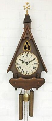 Vintage Cathedral New England Chime Wall Clock #1679