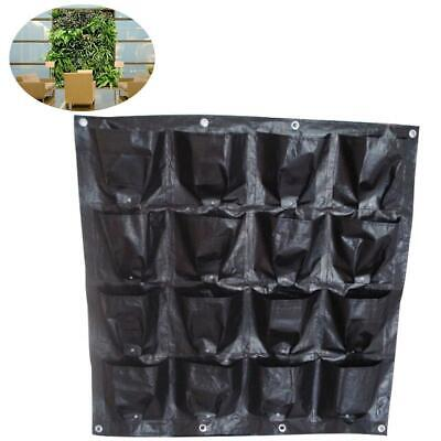 Herb Wall Hanging Planting Planter Flower 16Pocket Vertical Hanging Bag Garden