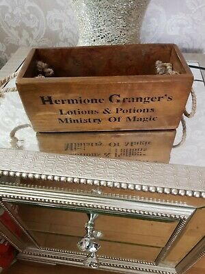 Vintage antiqued wooden box, crate, SMALL BOX, HARRY POTTER HERMIONE GRANGERS