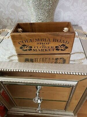 Vintage antiqued wooden box, crate, trug, SMALL BOX, COLUMBIA ROAD FLOWER MARKET