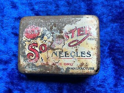 Antique Songster Brand Gramophone Phonograph Needle Tin and Contents