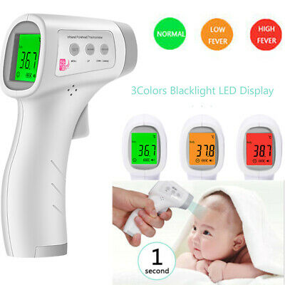 No-contact IR Infrared Digital LCD Fever Thermometer Head Forehead Baby Adult UK