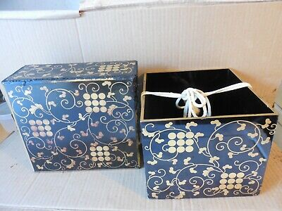 Vintage Chinese Lacquer box, Black with Gold decorations.