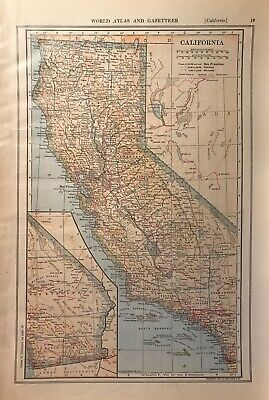 1906 & 1907 Colorado & California Maps, Named Railroads, Counties, Towns & More