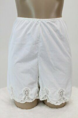 Vintage White Pettipants lace nylon Womens Panties bloomers Panty Boxers M